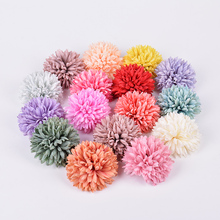 5PCS/Lot Silk Carnation Artificial Flower Head DIY Wreath Box Gift Craft Fake Flowers