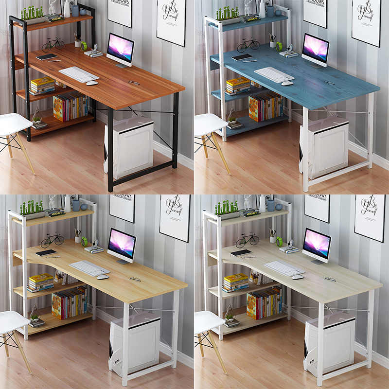 Computer Desktop Table Home Simple Modern Office Desk Bookcase Combination Simple Bedroom Student Writing Small Table Aliexpress