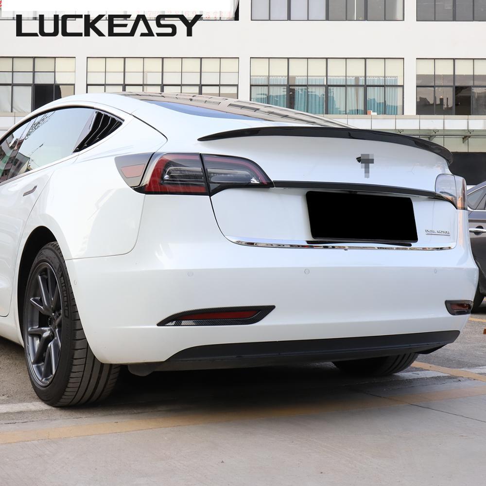 Aileron daile de coffre de fibre de carbone de version de haute performance de LUCKEASY pour le modèle 3 de Tesla 2017-2019 aile de aileron de coffre de résine