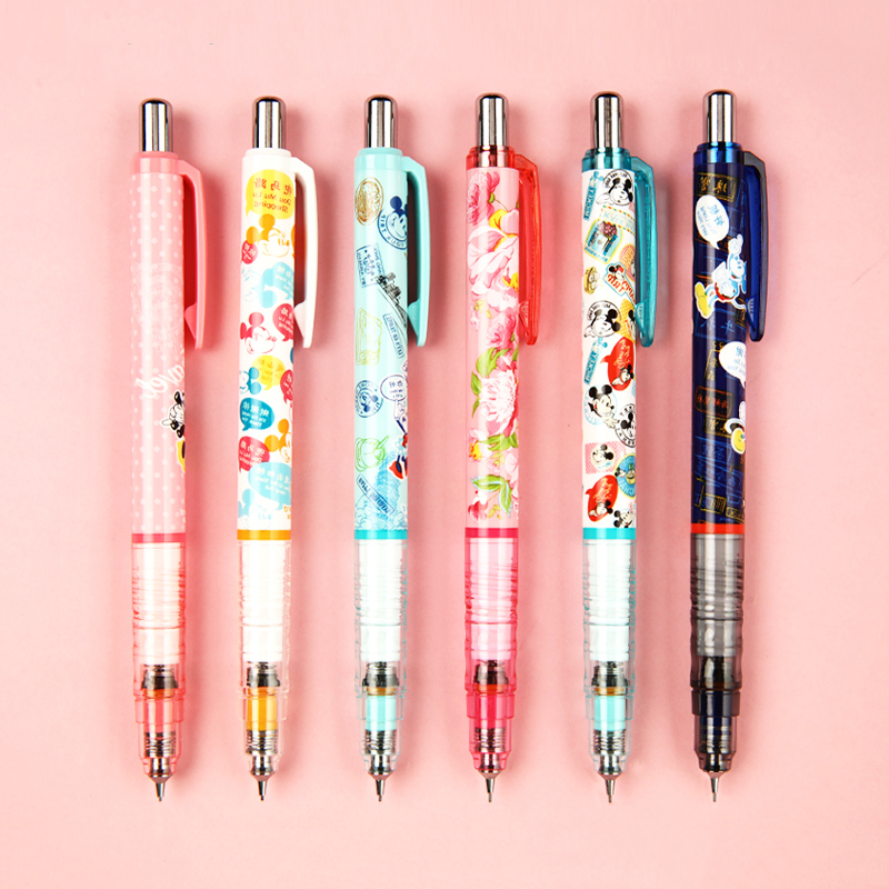 Japanese Stationery Zebra Delguard Limited Edition Mickey Mouse Minne Mechanical Pencil 0.5mm Cartoon Kawaii Perfect Gift