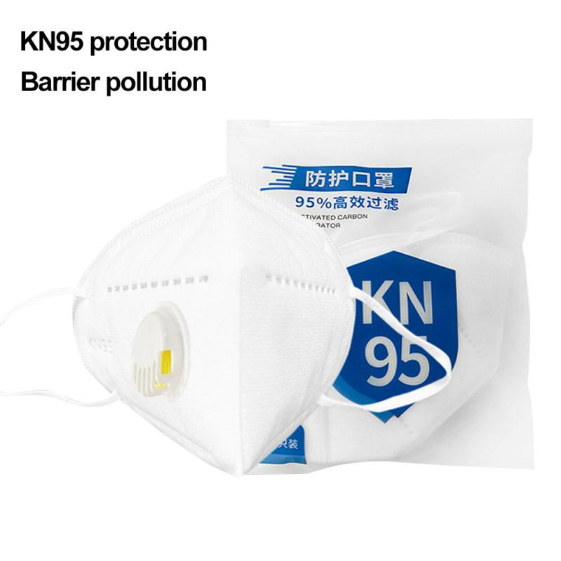 Reusable KN95 Mask CE Certificate Mouth Face Mask Dust Anti Infection Air Valved KN95 Masks Respirator PM2.5 Protective FFP2