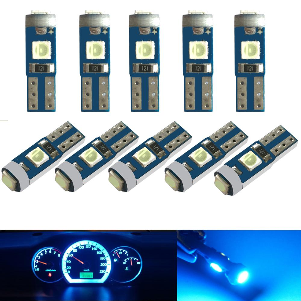 10x T5 LED 74 Light 3030SMD Car Dashboard Instrument Panel Light Bulb Kit For Mitsubi Shi Lancer Eclipse Galant Outlander Precis
