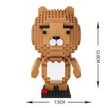 hot LegoINGlys creators Cartoon Animals Ryan Small Lion Figures mini Micro Diamond Building Blocks model bricks toys for gifts