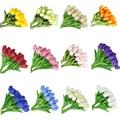 5 шт. искусственные цветы тюльпана мини цветы тюльпана подделок шелковые цветы настоящие цветные свадебные цветы для свадьбы или торжестве...