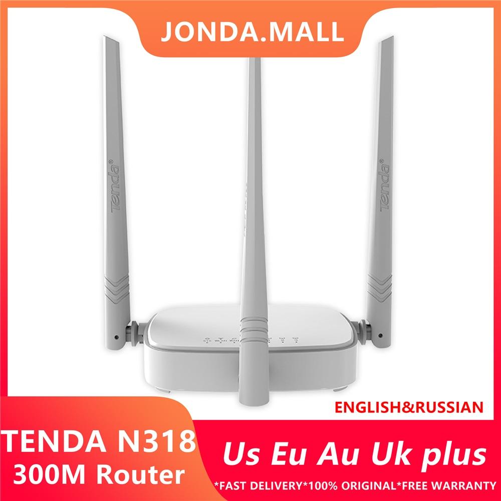 Repetidor WiFi inalámbrico Tenda N318 300 Mbps, Firmware multilingüe, router/WISP/Repetidor/modelo AP, 1WAN + Puerto 3LAN RJ45