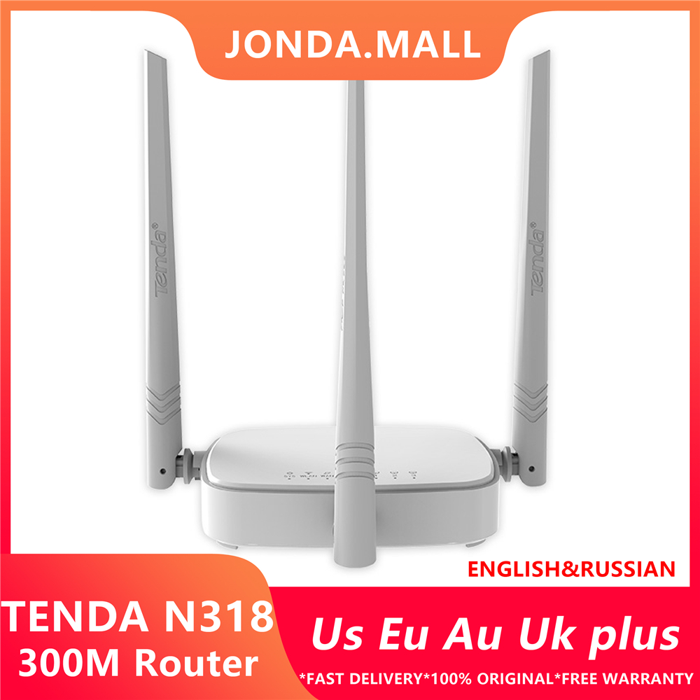 Tenda n318 300 mbps roteador wi-fi sem fio repetidor, multi linguagem firmware, roteador/wisp/repetidor/ap modelo, 1wan + 3lan rj45 porto
