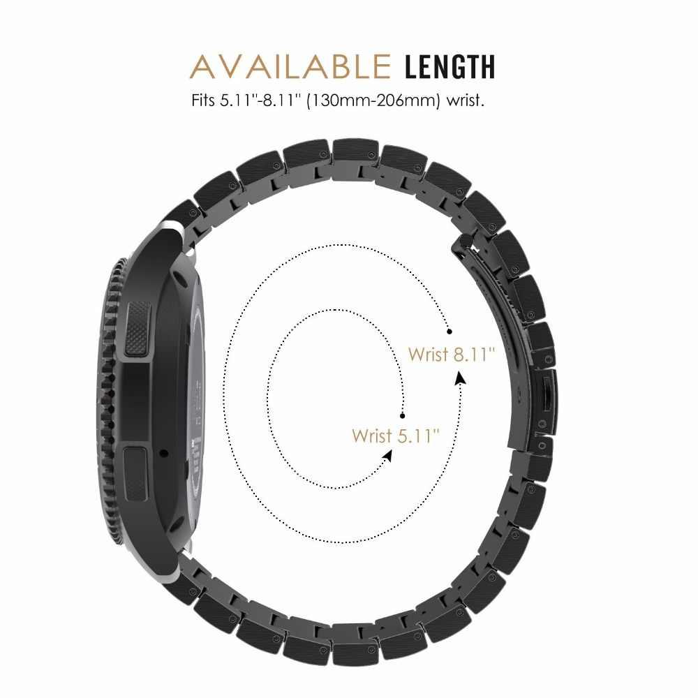 18mm 20mm 22mm saat kayışı askısı Galaxy izle Active2 44mm 40mm paslanmaz çelik samsung için yedek Galaxy izle 42 46mm