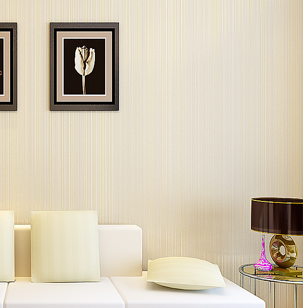 Thick Stereo Mould Proof Moisture-Proof Breathable Yarn Wallpaper Living Room Bedroom Library Wall-to-Wall Non-woven Wallpaper