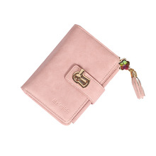 dudini fashion korean style wallet pu leather long section wallet women printing geometric pattern zipper 1 fold women wallets New ladies wallet three fold zipper wallet diamond tassel PU handmade leather bag card holder wallet women  Standard Wallets