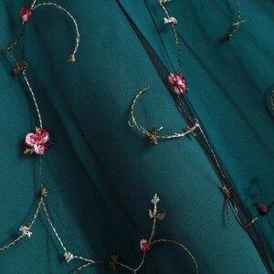 Image 5 - Tonval Çiçek Işlemeli Örgü Tatlım Parti Elbise Kadınlar Lace Up Geri Yüksek Düşük Hem Fit ve Flare Bayanlar Zarif Elbiseler