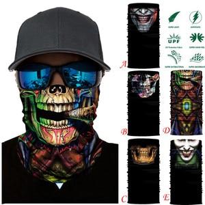 Pasamontañas 3D, pañuelo mágico para el cuello, mascarilla para motocicleta, Calavera fantasma, esquí táctico, magia del pañuelo, bufanda, tubo para el cuello
