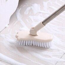 vanzlife Bathroom long-handled brush bristles to scrub toilet bath brush ceramic tile floor cleaning brushes