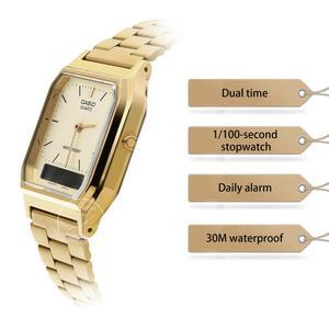 Image 2 - Casio watch gold watch men top brand luxury Dual display Waterproof Quartz men watch Sport military WristWatch relogio masculino