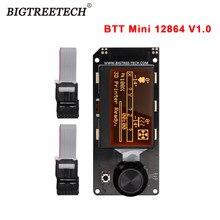 Bigtreetech btt mini 12864 v1.0 tela de exibição rgb luz para mega2560 chip placa-mãe 3d peças impressora