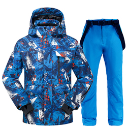 Ski costume hommes hiver 2020 thermique étanche coupe-vent vêtements neige pantalon Ski veste hommes ensemble Ski et snowboard costumes marques