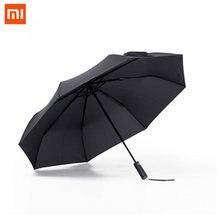 Автоматический зонт xiaomi mijia алюминиевый ветрозащитный водонепроницаемый