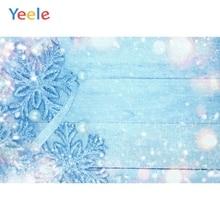 Yeele Christmas Party Photocall Wood Ice Snowflake Photography Backdrops Personalized Photographic Backgrounds For Photo Studio