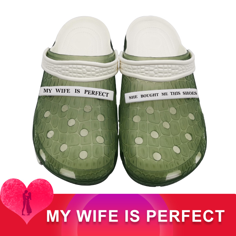 MY WIFE IS PERFECT Clogs Mmassage Zapatos De Hombre Adidase Shoes Male Men Soft Casual Sandalias Croks Spor Ayakkabi Erkek Kapc