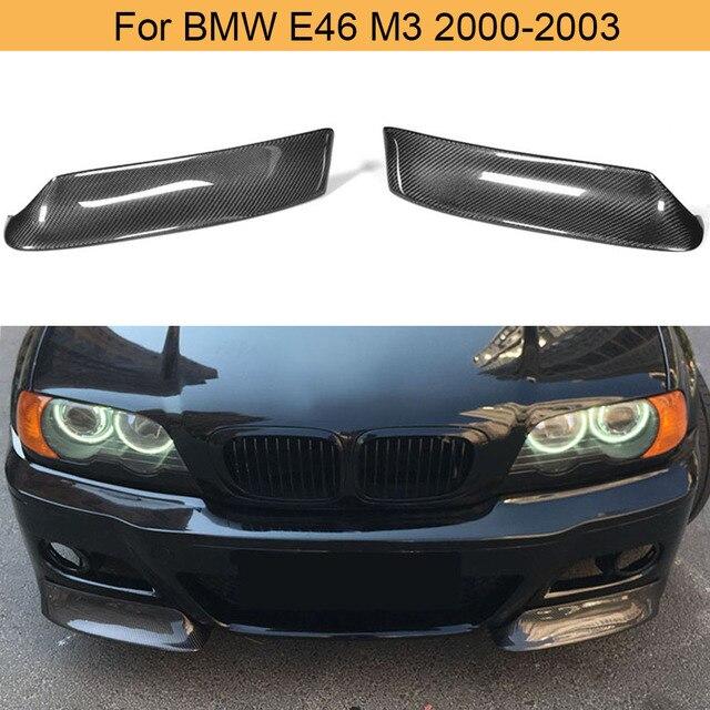 Car Front Bumper Splitters Lip Spoiler for BMW 3 Series E46 M3 Coupe 2000-2006 Front Splitters Aprons Cupwings Carbon Fiber