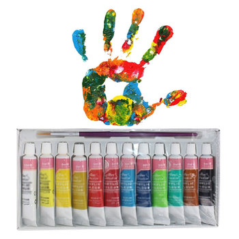 Professional Acrylic Paints for Hand-draw Clothing 12 Colors 6ML Acrylic Pigment Hand Painted for Textile Wall Stone Nail Wood fashionable oumaxi 12 colors acrylic nail paints for 3d nail art drawings and designs