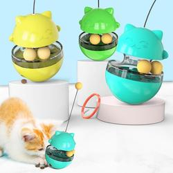 Cat Kitten Funny Tumbler Slow Eating Food Leak Dispenser Feeder Ball Teaser Toy It can develop the intelligence of pets stable
