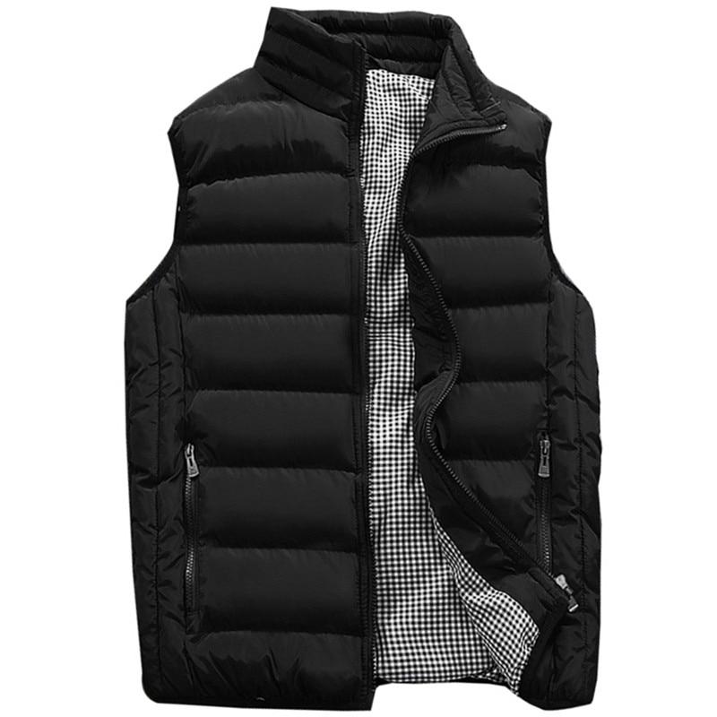 2019 New Shelves Fashion Men's Casual Collar Vest Jacket, Large Size Men's Sleeveless Cotton Vest Cotton Jacket Waistcoat  M-5XL