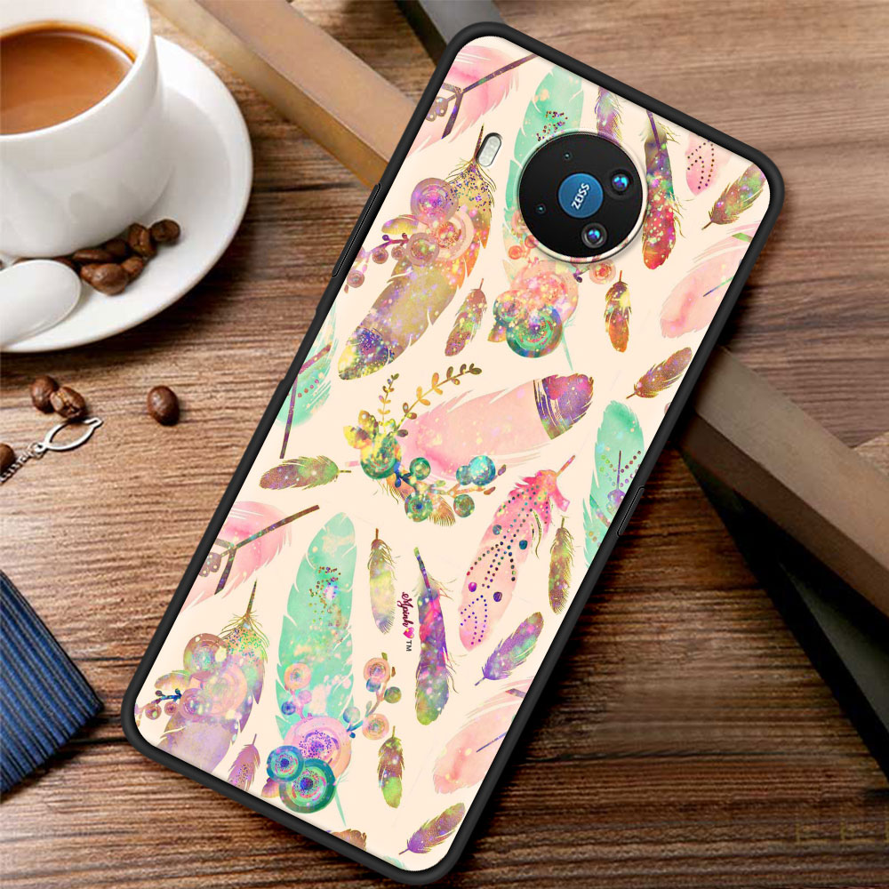 Watercolor Painting Feathers Case Funda For Nokia 2.2 2.3 3.2 4.2 7.2 1.3 5.3 8.3 5G 2.4 3.4 C3 C2 Tenen 1.4 5.4