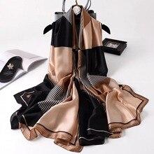 2021 Luxury Brand Summer Women Scarf Fashion Quality Soft Silk Scarves Female Shawls Foulard Beach Cover-Ups Wraps Silk Bandana