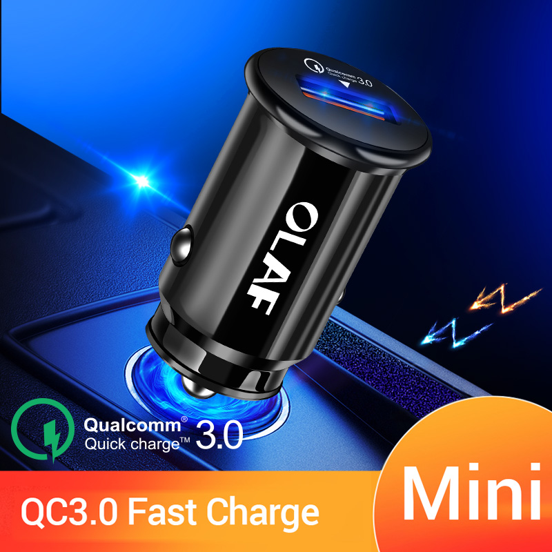 OLAF 36W Quick Charge 3.0 USB Car Charger 5V 3.4A USB Car-Charger For IPhone X 7 Samsung S10 A50 Xiaomi QC3.0 Car Phone Charger