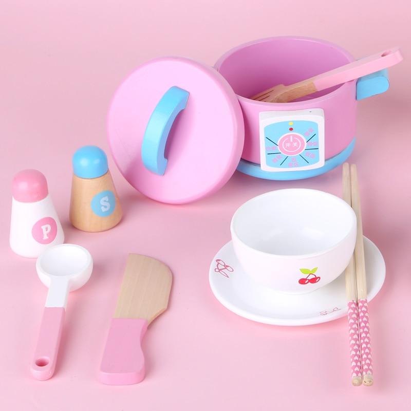 Dropshipping rosa morango simulação bolo de manhãconjunto