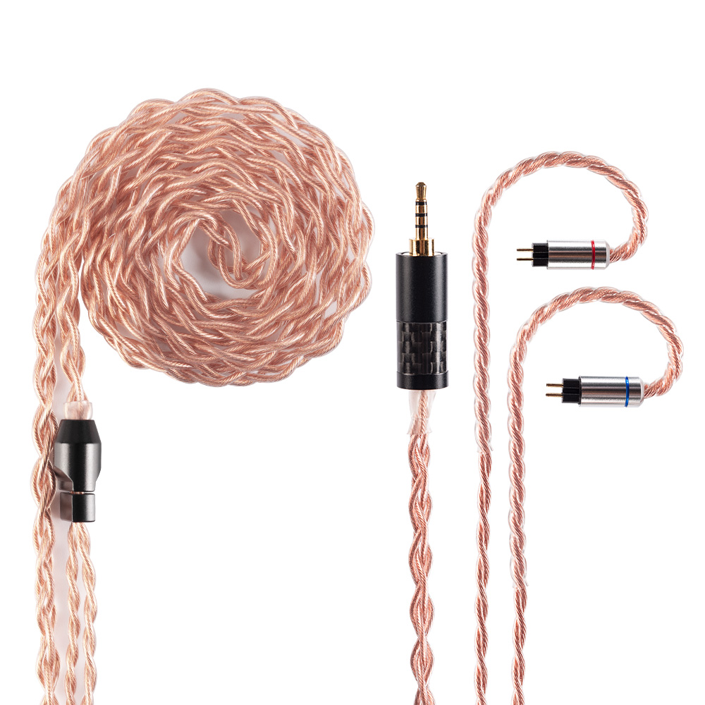 AK Yinyoo  4 Cores 4N OFHC High Purity Oxygen-Free Copper Cable 3.5/2.5/4.4mm Plug MMCX/2Pin For TRN V90/X6/V80 C12 ZSX ZS10 PRO
