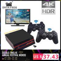 Datos Rana videojuego consola 4K HDMI salida Retro 600 clásico 64 Bit familia videojuegos 2,4G inalámbrico doble consola de mando de videojuegos