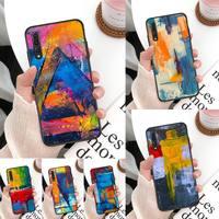 Funda de teléfono con pintura de lona colorida para Huawei Mate 30 Pro P20 P30 P40 pro lite Y7 Y6 2019, funda para Honor 8X 8A 10 20lite 10i