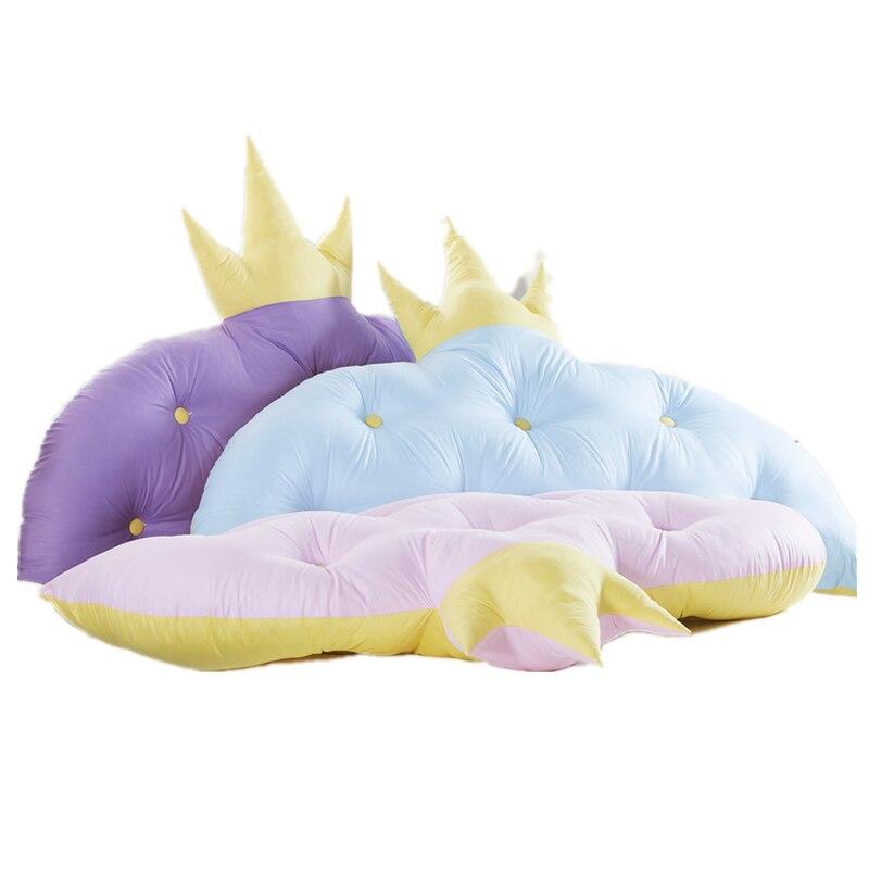 Crown Princess Room Large Backrest Korean Version Of Tatami Bedside Pillow Children Bedside Cushion Soft Bag Dormitory Backrest