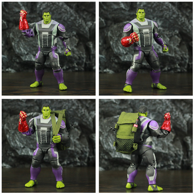 Marvel Avengers Endgame Hulk with Red Infinity Gauntlet and Quantum Suit 8inch. 4