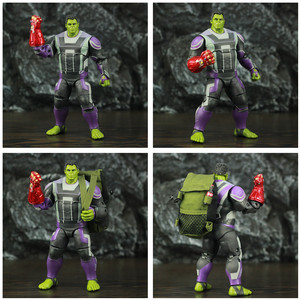 "Image 4 - ZD Spielzeug Avenger 4 Endgame Hulker Quantum Anzug 8 ""20cm Action Figure Movie Robert Bruce Banner Legends Original puppe Modell"