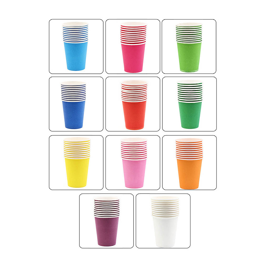 New Handmade Color Paper Cups 10 Kindergarten Early Education Art Courses Children Creative Parent-child Diy Materials