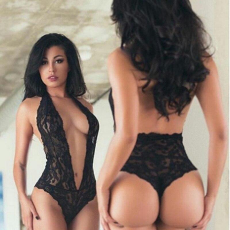 Цельный купальник с v-образным вырезом, сексуальное эротичное женское белье боди сексуальное женское цветочное кружевное сексуальное тело ...