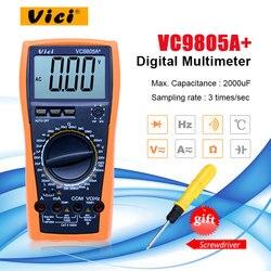 VICI VC9805A + cyfrowy multimetr urządzenie do pomiaru temperatury DMM miernik przebiegu indukcyjności  pojemność  częstotliwość  i hFE testowania w Mierniki wielofunk. od Narzędzia na