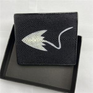 Мужской короткий клатч из натуральной кожи Stingray, кошелек из экзотической натуральной кожи для катания на коньках, маленький кошелек в стиле...