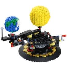 Buildmoc blok toprak 4477 toprak, ay ve güneş modeli dünya DIY elmas mini mikro blok yapı taşları tuğla montaj oyuncak oyunu