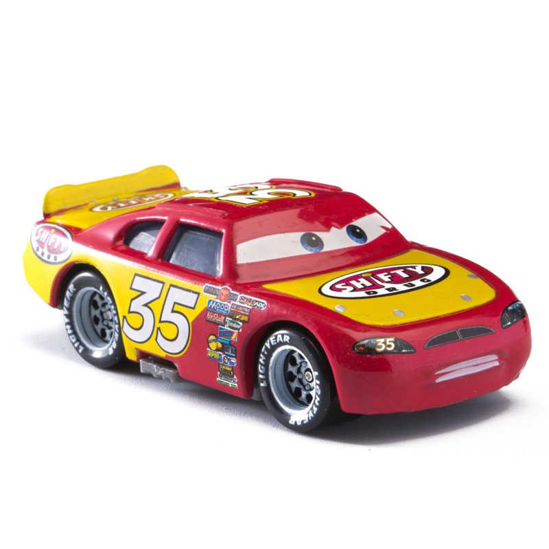 Mobil Disney Pixar Cars 3 Cruz Ramirez Badai Jackson Raja McQueen Logam 1:55 Diecast Model Mobil Mainan Anak Ulang Tahun hadiah