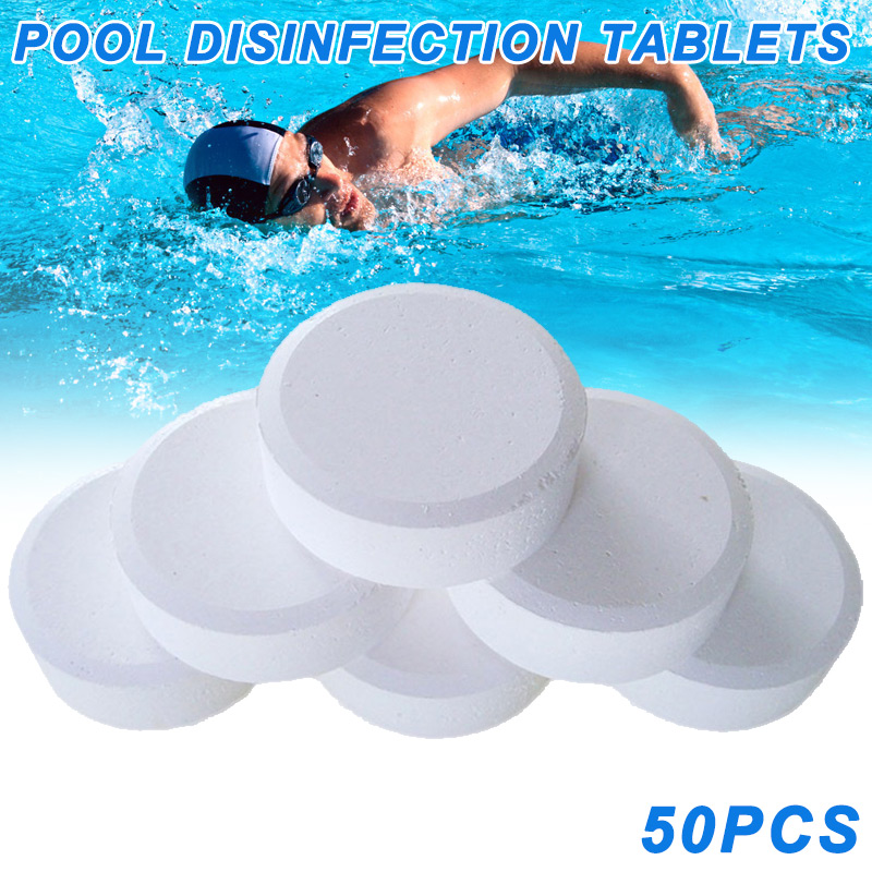 Wholesale 50 Pcs Chlorine Tablets Multifunction Instant Disinfection For Swimming Pool Tub Spa Piscina