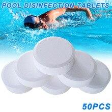 Venta al por mayor 50 Uds tabletas de cloro multifunción de desinfección instantánea para la bañera de la piscina Spa piscina