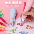 12 цветов  электрические кисти  аэрозольная ручка  ручная работа  цветная моющаяся профессиональная Акварельная ручка  Набор для творчества ...