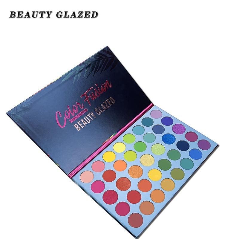 Beauty Glazed 39 Colors Pearlescent Matt Eyeshadow Plate Palette Fluorescent Rainbow Highlight Makeup Shimmer Matte