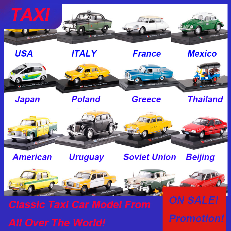 1:43 Scale Metal Alloy Classic FIAT FORD Cab Taxi Car Truck Model Diecast Alloy Car Model Auto Vehicles Toys For Collection Gift