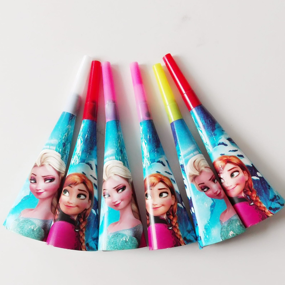 Frozen Princess Horns Disposable Tableware Happy Birthday Party Supplies Festival Decoration Event Favor Gender Reveal Girls