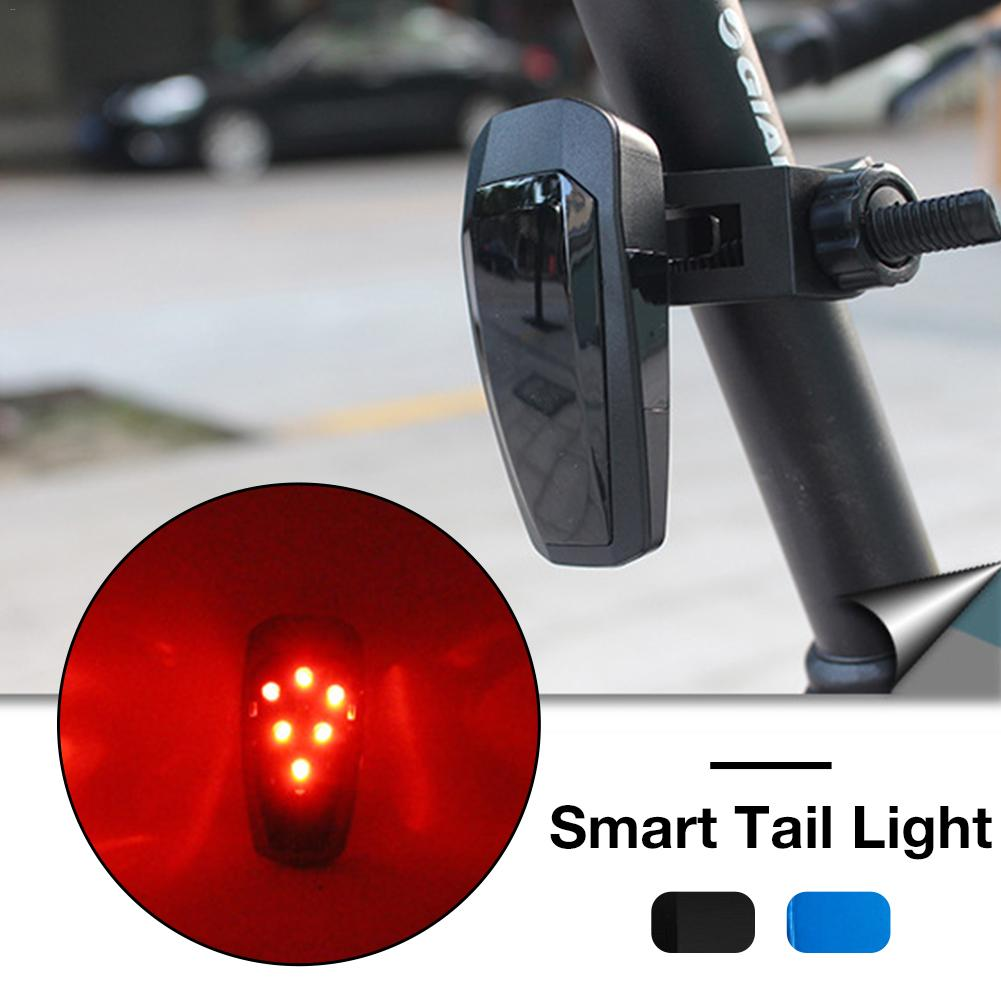 Upgraded MTB Smart Bicycle Tail <font><b>Lights</b></font> Road Mountain <font><b>Bike</b></font> Brake Warning Taillights USB Charging Fully Automatic <font><b>Blinking</b></font> Mode image