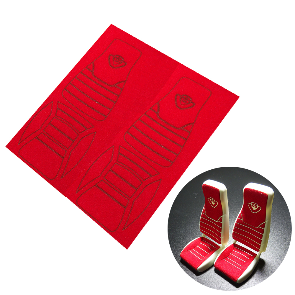 2pcs Interior Driver Seat Sticker Velvet Chair Decoration For 1/14 Tamyia Rc Truck Scania R620 R470